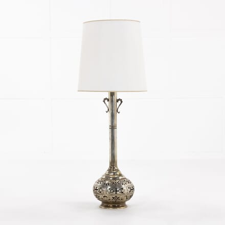 1960s Spanish Silvered Metal Lamp LT068925