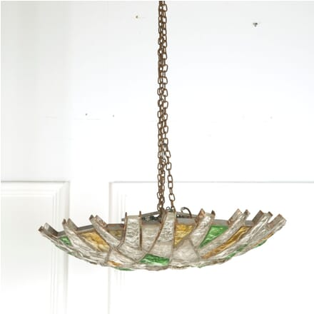 1970s French Glass Ceiling Light LC9210364