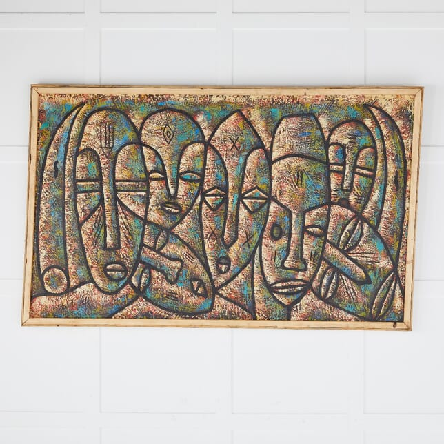 1970s Painting of African Masks DA0610381