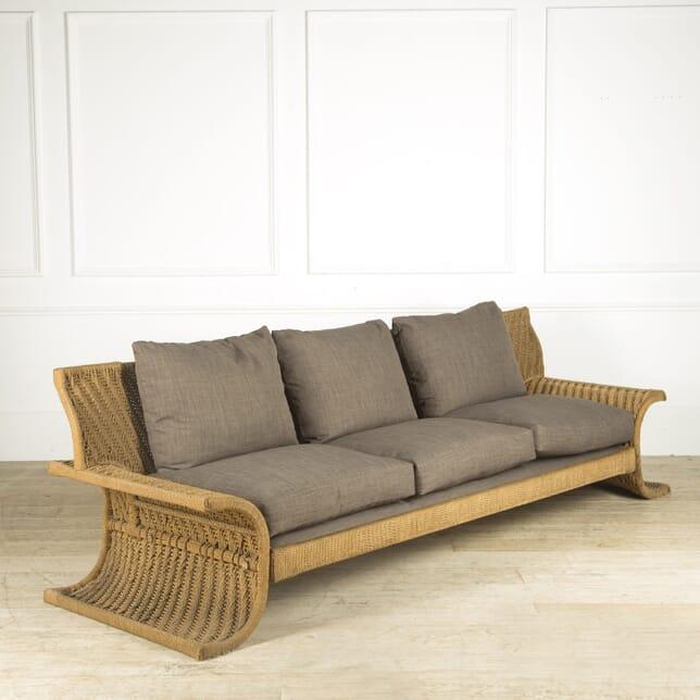 1970s Woven Cord Sofa by Mario Cecchi SB019381