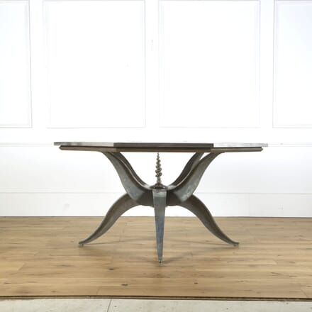1980s Steel Glass and Marble Centre Table TC409273