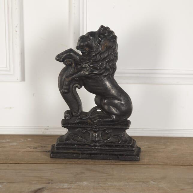 19th Century Cast Iron Lion Doorstop DA9012946