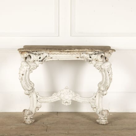 19th Century Cast Iron and Marble Console Table by James Yates CO0912901