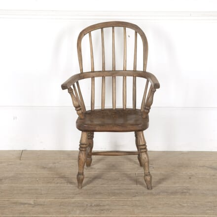 19th Century Child's Hooped Stick Back Chair DA7713162