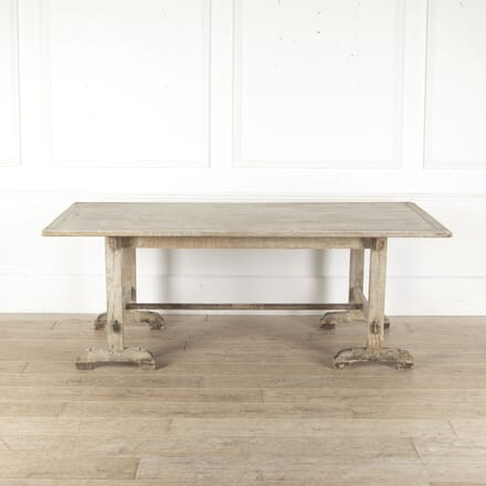 19th Century French Trestle-Style Dining Table TD4412549