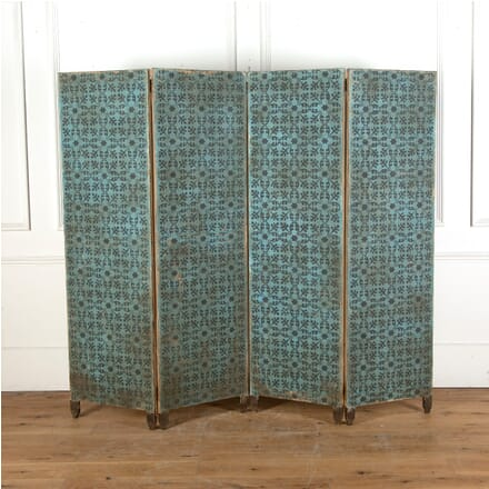 19th Century Hand Blocked Paper Screen BD9011640