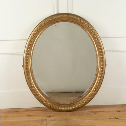 19th Century Oval Gilded Mirror with Original Plate MI1011615