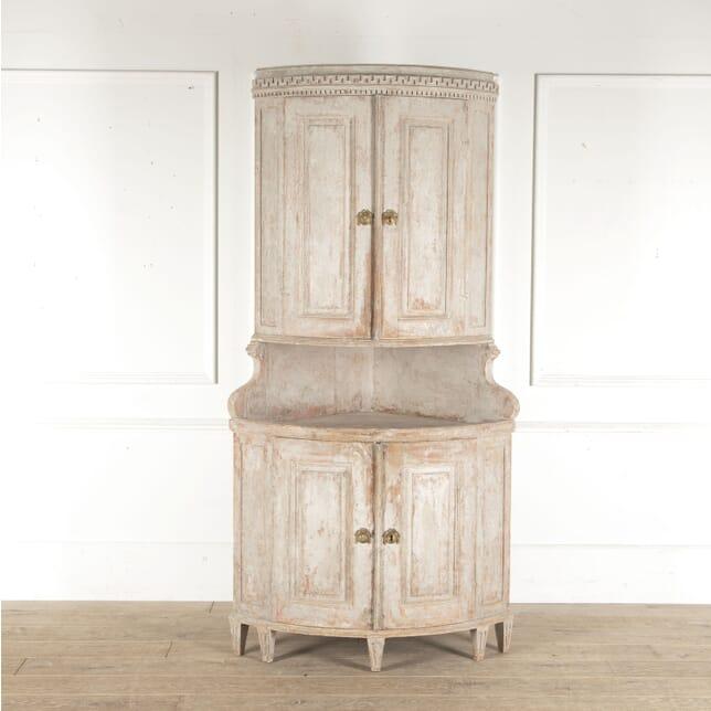 19th Century Swedish Corner Cabinet CU6013299