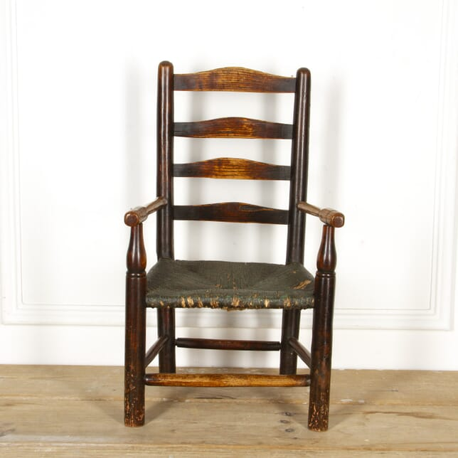 19th Century Rush Seated Childs Chair ST7717141