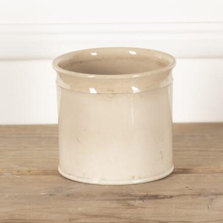 19th Century French Pale Yellow Glazed Pot DA4414104