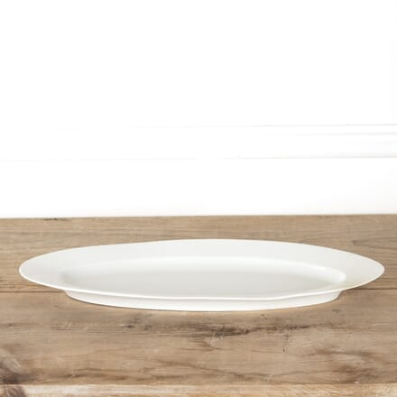 19th Century White Porcelain Fish Plate DA4414098