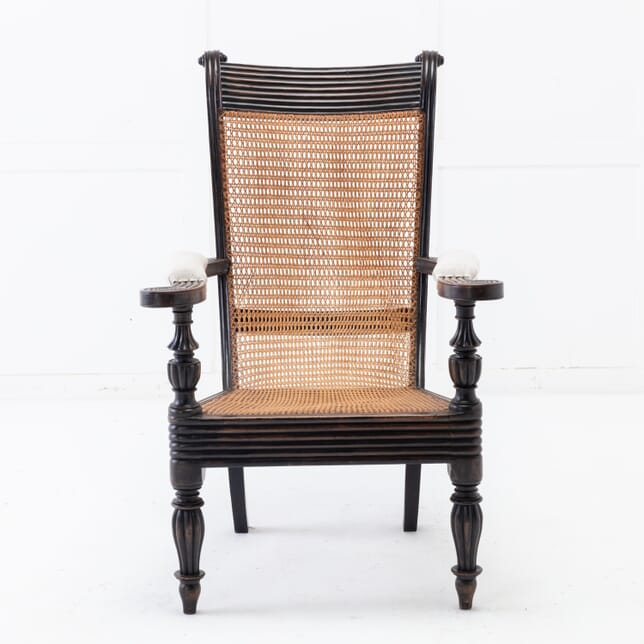 Anglo-Indian Ebonised and Caned Armchair CH0616378