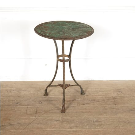 19th Century Arras Iron Table with Lions Paw Feet TC0211456