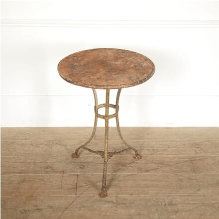 19th Century Arras Iron Table with Lions Paw Feet TC0211457