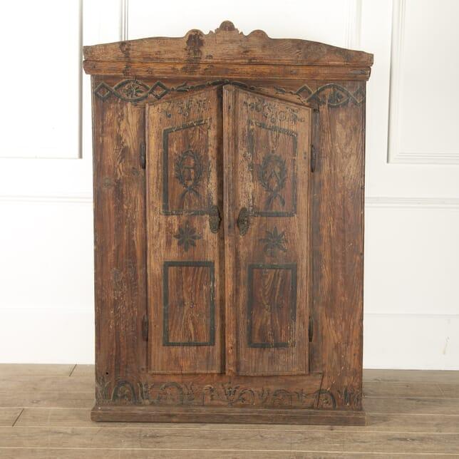 19th Century Bavarian Painted Corner Cabinet BU1113287
