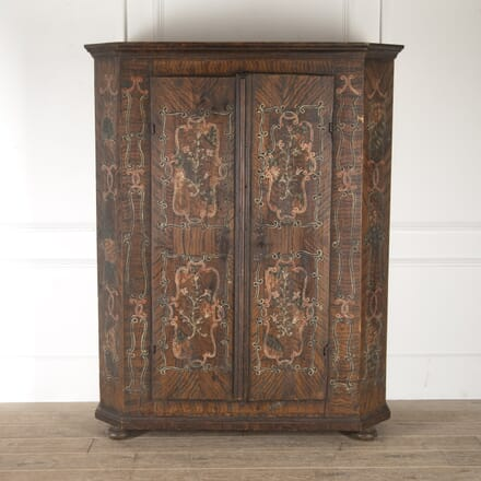 19th Century Bavarian Painted Cupboard CU1113192