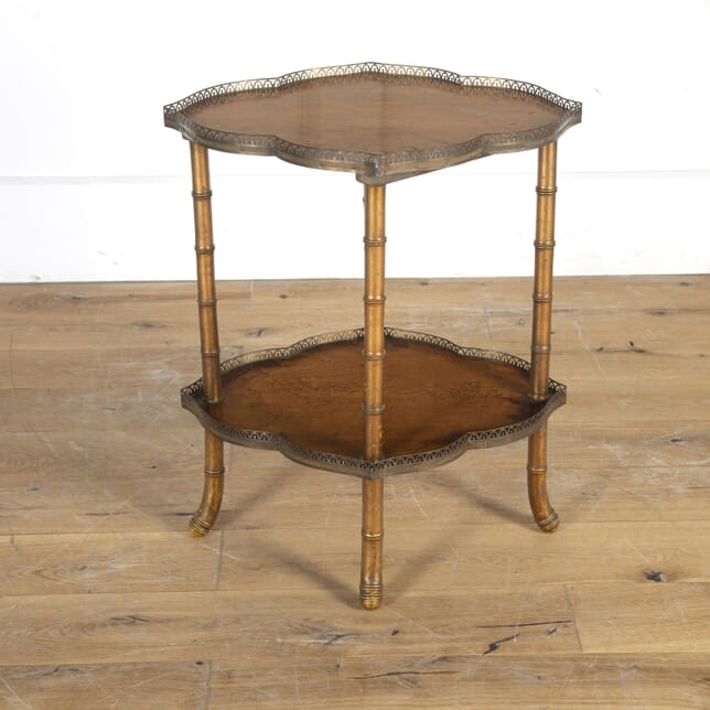 19th Century Bird's-Eye Maple and Faux Bamboo Table TA2715101