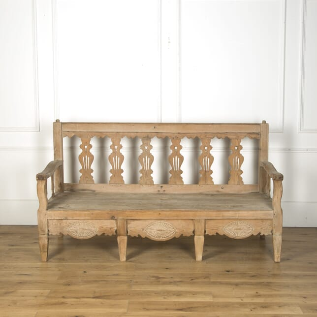 19th Century Bleached Spanish Bench SB519759