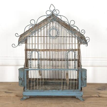 19th Century Painted Wire Bird Cage DA6016973