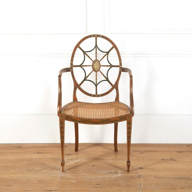 19th Century Caned Satinwood Chair CH6810975