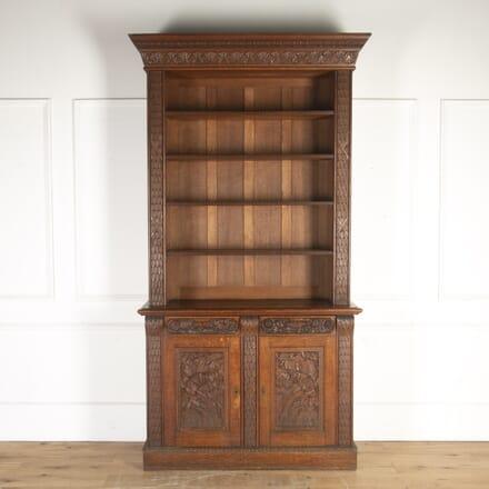 19th Century Carved Oak Bookcase BK8213811