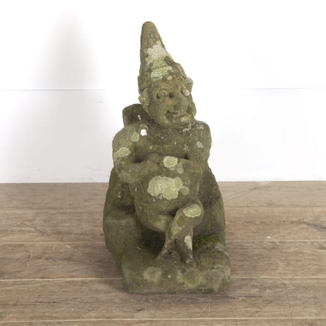 19th Century Carved Stone Mr Punch GA0914402