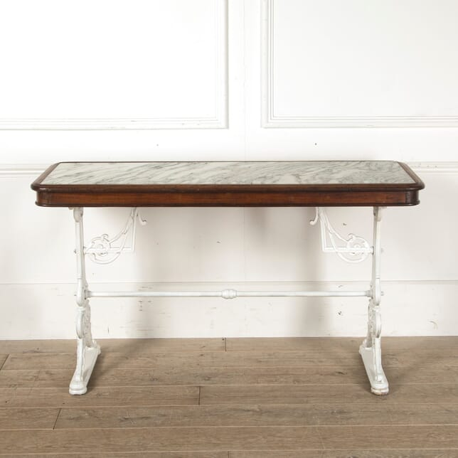 19th Century Cast Iron Marble Top Table TC5210544