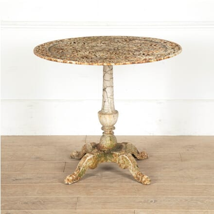 French 19th Century Cast Iron Table TC1110897