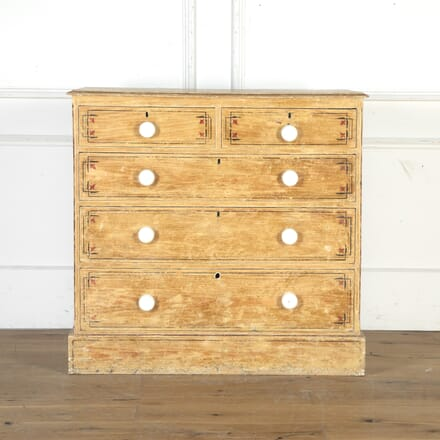 19th Century Chest of Drawers in Original Paint CC9014525