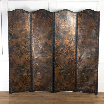 19th Century Decorated Leather Screen BK0316939