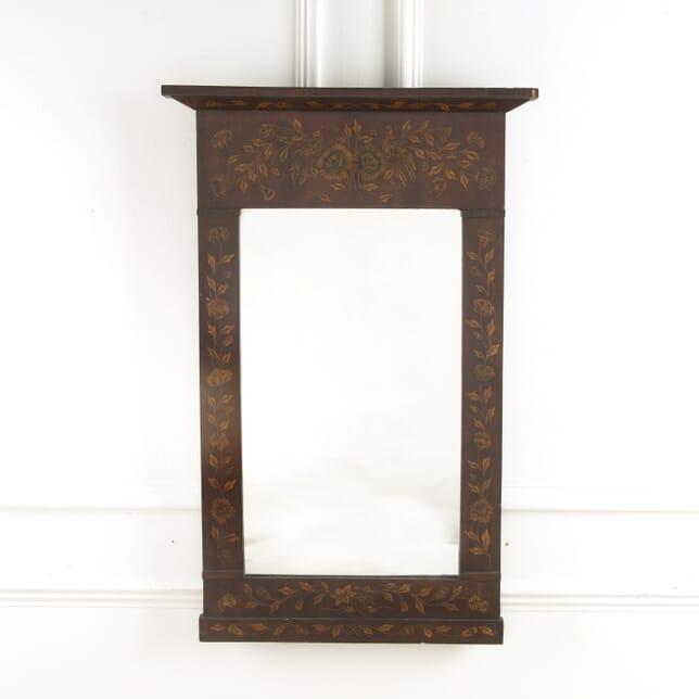 19th Century Dutch Marquetry Hall Mirror MI889542