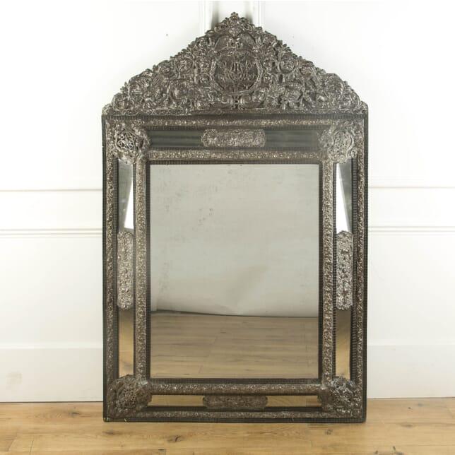 19th Century Dutch Repousse Mirror MI749472