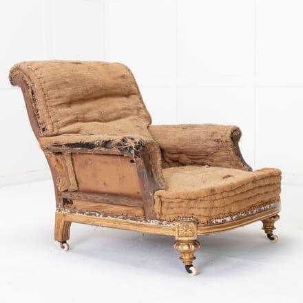 English 19th Century Giltwood Armchair CH0616603