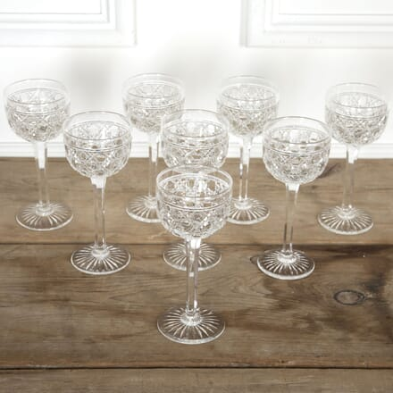 19th Century English Crystal Tall Wine Glasses DA5816911
