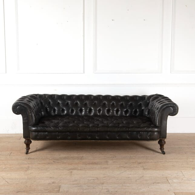 19th Century English Leather Chesterfield SB9911353