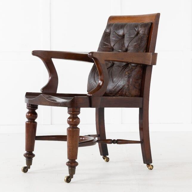 19th Century English Mahogany Desk Chair CH0610943
