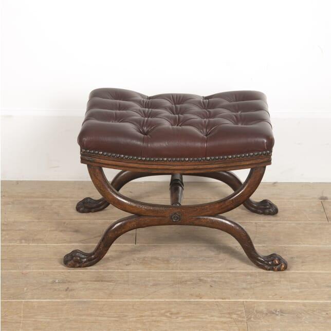 English Regency Leather Footstool ST8816074