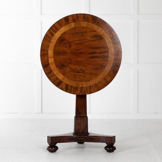 19th Century English Regency Mahogany Lamp Table TC0611266