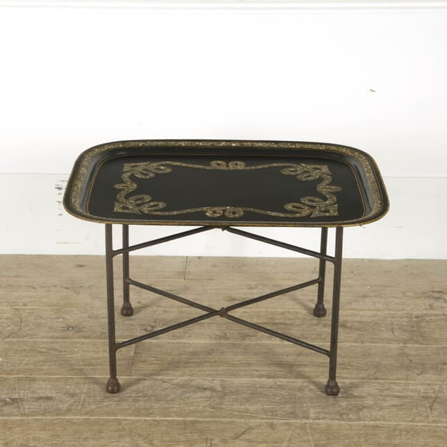 19th Century Folding Toleware Tray Table CO299827
