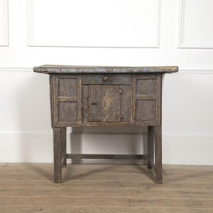 19th Century Folk Art Hutch Table TS7716697