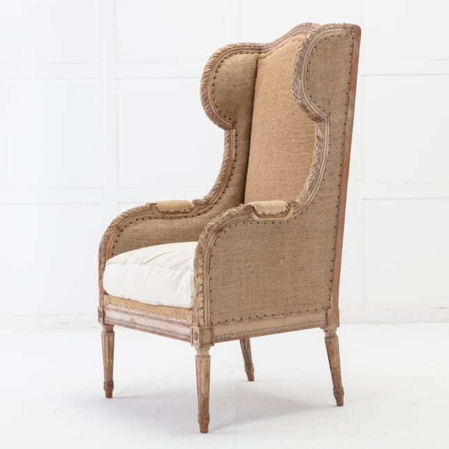 French 19th Century Wingback Armchair CH0616058