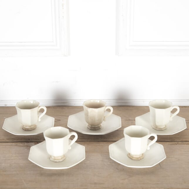 19th Century Creamware Coffee Cans and Saucers DA9013686