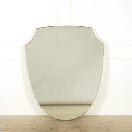 Large Nickel Shield Shaped Mirror MI308998