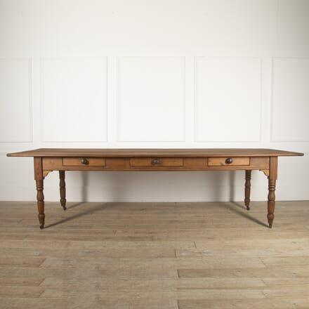 French 19th Century Pine Farmhouse Table TD8816536