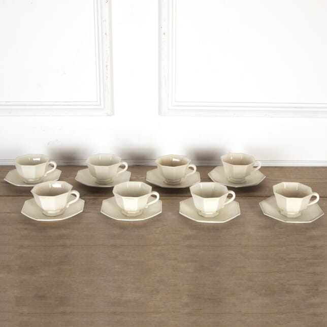 19th Century Creamware Tea Cups and Saucers DA9013685