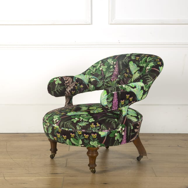 19th Century French Deep Button Backed Club Chair CH599482
