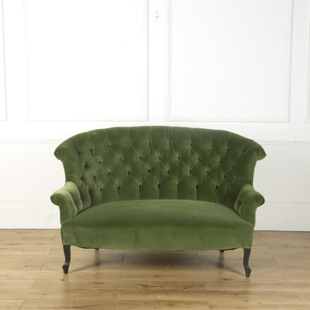19th Century French Deep Button Backed Sofa SB599481