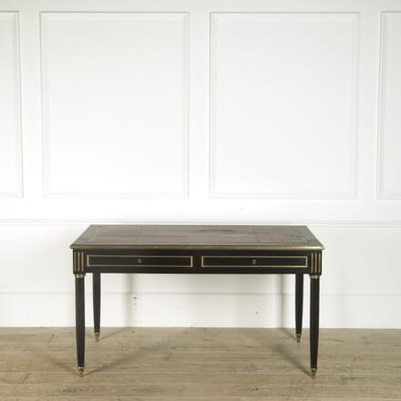 19th Century French Ebonised Bureau Plat DB019379