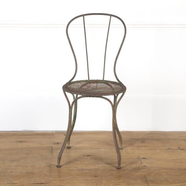 French 19th Century Iron Garden Chair GA9016813