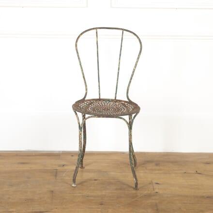 French 19th Century Iron Garden Chair GA9016811